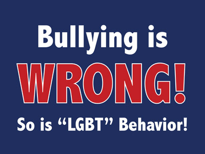 Bullying is Wrong Blue