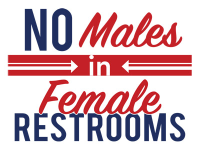 No Males in Female Restrooms White
